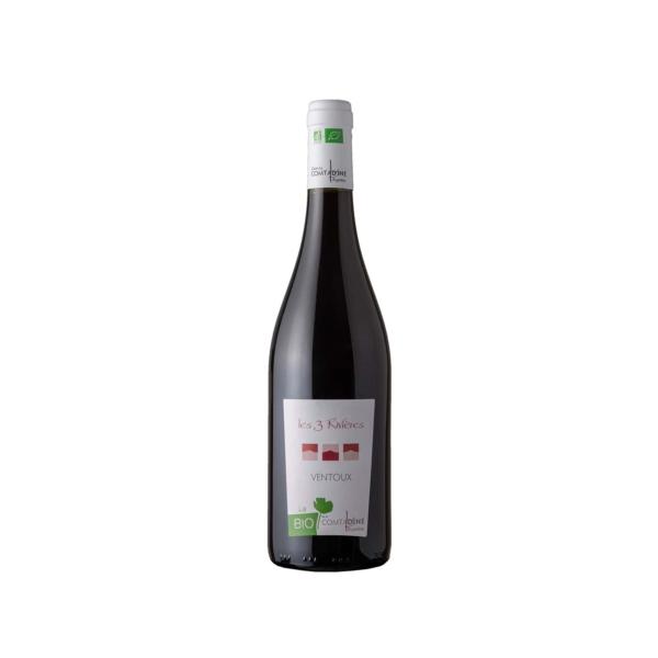 Bouteille de vin rouge les trois rivières