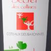 Bouteille de vin rouge Secret de Collines